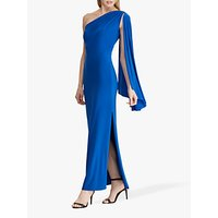 Lauren Ralph Lauren Dellah One Shoulder Evening Dress, Portuguese Blue