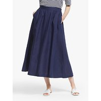 John Lewis and Partners Linen Full Midi Skirt