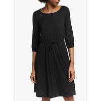 Boden Talia Drawstring Waist Jersey Dress, Black