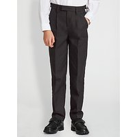John Lewis and Partners Boys Easy Care Adjustable Waist Tailored Fit School Trousers