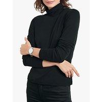 hush Long Sleeve Polo Neck T-Shirt, Black