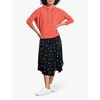 hush Monroe Firework Star Print Skirt, Black