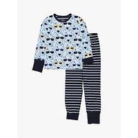 Polarn O. Pyret Children's Dog Stripe Pyjamas, Blue