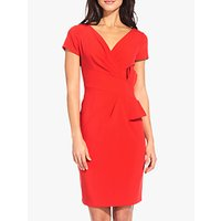 Adrianna Papell Bow Waist Dress, Red Polish