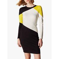 Karen Millen Colour Block Panelled Dress, Multi