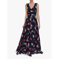 shop for Gina Bacconi Edana Floral Maxi Dress, Black/Multi at Shopo