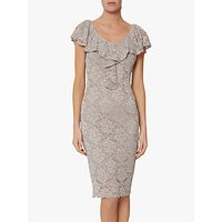 shop for Gina Bacconi Starla Ruffle Lace Embroidered Dress at Shopo