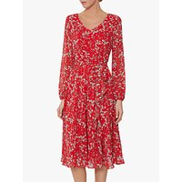 shop for Gina Bacconi Ridley Floral Belt Dress, Red/White at Shopo