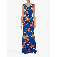 shop for Gina Bacconi Valdine Floral Maxi Dress, Royal Blue/Multi at Shopo