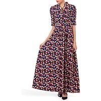 shop for Jolie Moi Tie Collar Maxi Dress at Shopo