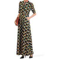 Jolie Moi Tie Collar Maxi Dress