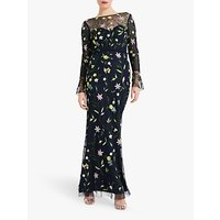 Phase Eight Collection 8 Mallory Embroidered Maxi Dress, Navy/Multi