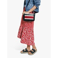 hush Veria Frilly Daisy Print Midi Skirt, Red