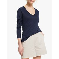 Winser London Pure Linen V-Neck Top
