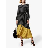 Karen Millen Contrast Hem Midi Dress, Multi