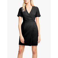 shop for French Connection Whisper Wrap Mini Dress, Black at Shopo