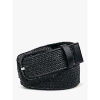 shop for hush Clematis Woven Jeans Belt, Black at Shopo