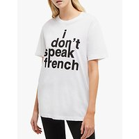 French Connection Slogan Short Sleeve T-Shirt, White/Black