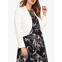 Studio 8 Caroline Collarless Peplum Jacket, Ivory