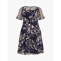 shop for Studio 8 Elfie Embroidered Dress, Mid Blue at Shopo