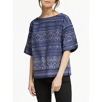 Thought Jacqualine Organic Cotton Top, Ocean Blue