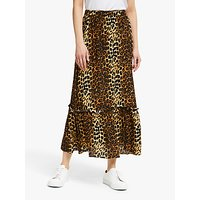 Second Female Elinor Leopard Maxi Skirt, Brown