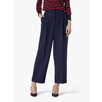 L.K.Bennett Corey Wide Leg Trousers, French Blue