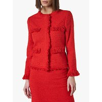 L.K.Bennett Myia Tweed Jacket, True Red