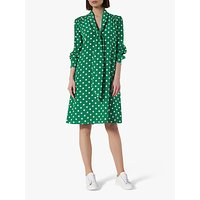 L.K.Bennett Evia Spot Print Silk Dress, Green