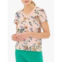 Gerard Darel Valora Floral Cotton T-Shirt, Blush/Multi