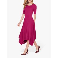 shop for Damsel in a Dress Deena Knit Drape Hem Dress, Magenta at Shopo