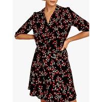 Gerard Darel Guilietta Floral Shirt Dress, Black