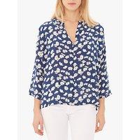 Gerard Darel Elodie Floral Silk Blouse, Navy/Multi