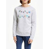 Maison Labiche Carroussel Sweatshirt, Heather Grey
