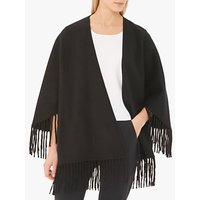 Gerard Darel Leatitia Wool Poncho, Black