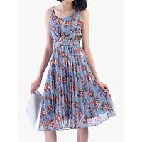shop for Jolie Moi Strappy Floral Pleated Dress at Shopo