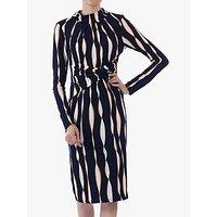 Jolie Moi Twist Body Con Dress, Navy Wave