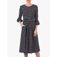 shop for Jolie Moi Roll Collar Shift Dress, Navy/Multi at Shopo