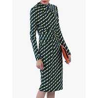 shop for Jolie Moi Twist Body Con Dress, Yellow Geo at Shopo