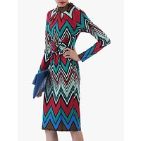 shop for Jolie Moi Twist Body Con Dress, Red/Multi at Shopo