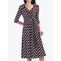 Jolie Moi Vintage Cross Front Tea Dress, Multi Geo
