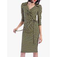shop for Jolie Moi Vintage Cross Front Dress at Shopo