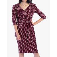shop for Jolie Moi Vintage Cross Front Dress, Pink/Black at Shopo