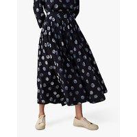 Toast Batik Dot Skirt, Deep Blue