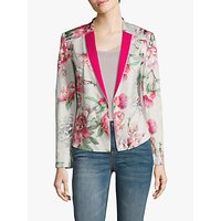 Betty Barclay Floral One Button Blazer, Stone Pink