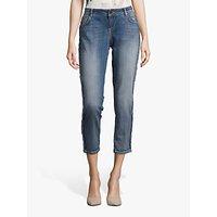 shop for Betty & Co Cropped Plait Jeans, Blue Denim at Shopo