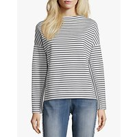 Betty Barclay Striped Dropped Shoulder Top, White/Blue