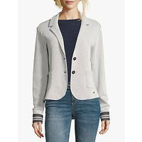Betty Barclay Unlined Sports Blazer, Silver/White