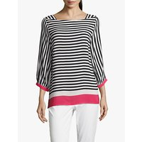 Betty Barclay Striped Blouse, White/Blue