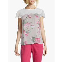 Betty Barclay Floral Print Blouse, Rose/White